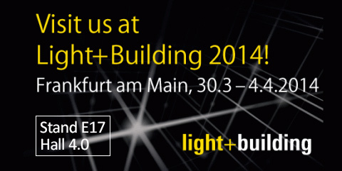 Visit us at Light+Building 2014